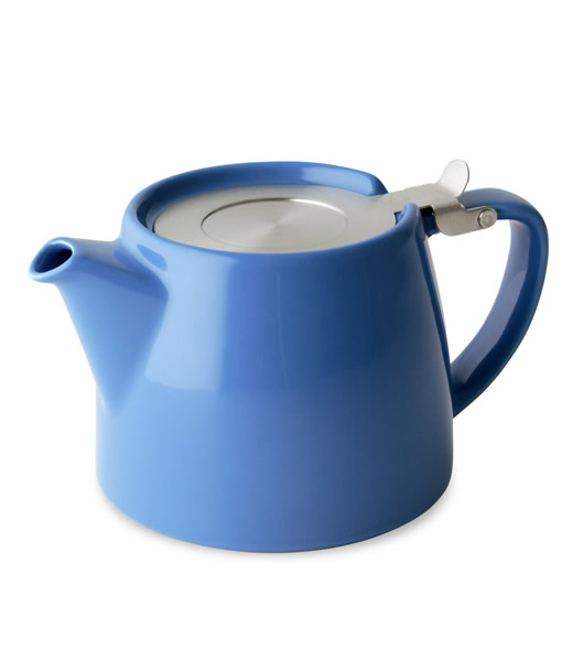 Stump teapot, blue