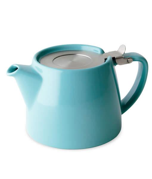 Stump teapot, turquoise