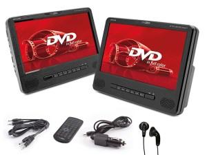 "CALIBER MPD 298 - 9"" DOPPEL AKTIV DVD PLAYERSET"