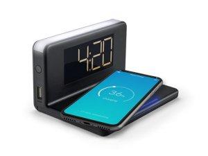 "Caliber HCG018Qi/B - Qi Ladestation ""pad mit fast charge"" Uhrenanzeige, Nachtlicht"