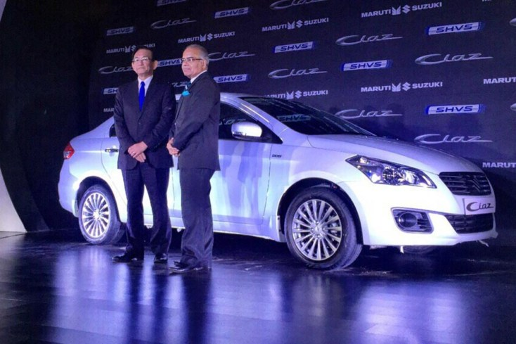Maruti-Ciaz-SHVS-front-three-quarter-launched-in-India