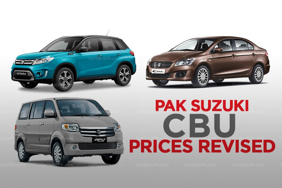 Pak Suzuki Increases its CBU Prices