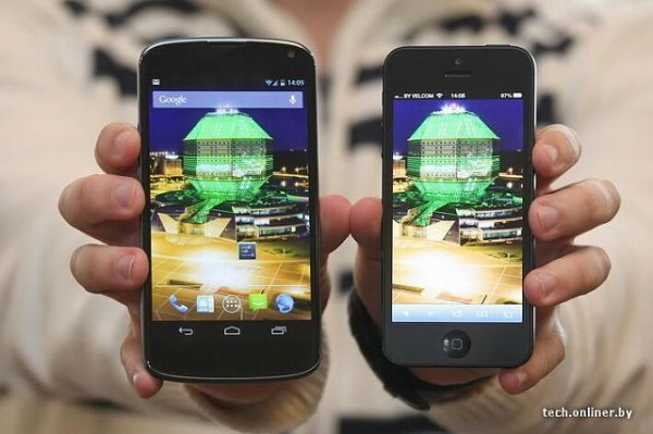 Das Nexus 4 ist etwas zu breit.