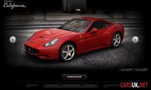 The Ferrari California Configurator