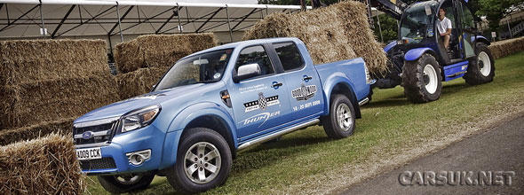Goodwood are using the new Ford Ranger as support vehicle at the Festival of Speed