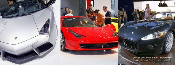 Italian Supercar makers didn't dissapoint at Frankfurt, with new offerings from Lamborghini, Ferrari and Maserati