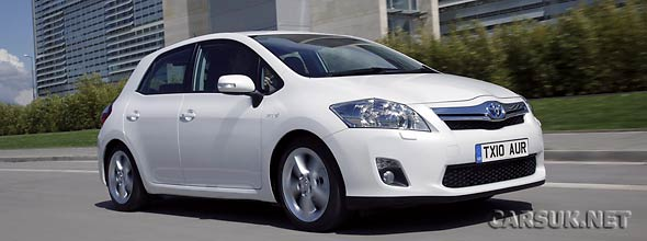 The Toyota Auris Hybrid UK