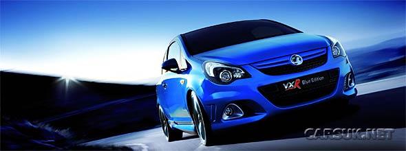The Vauxhall Corsa VXR Blue