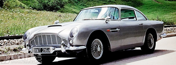 Silver Aston Martin DB5 from Goldfinger