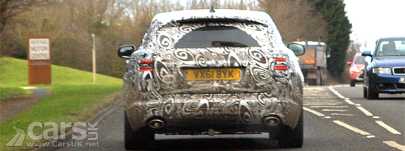 Back of what could be a Jaguar SUV Crossover