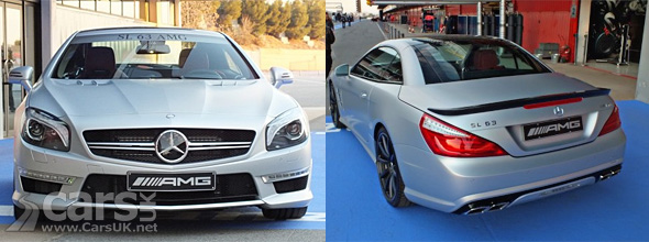 Front and back view of 2012 Mercedes SL63 AMG