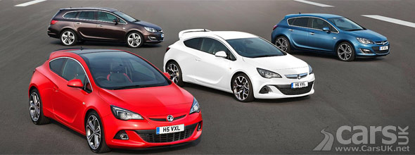 Vauxhall Astra Range Facelift 2012
