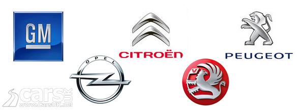 GM and PSA Logos
