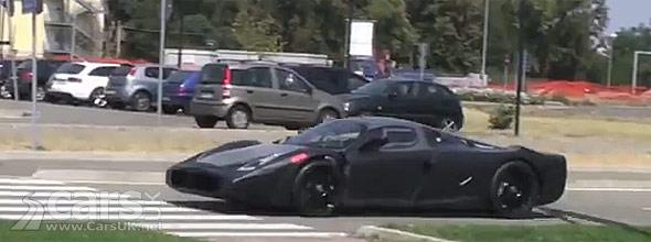 Spy photo of camouflaged Ferrari F150