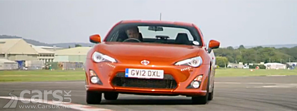 Jeremy Clarkason sliding orange Toyota GT86 image