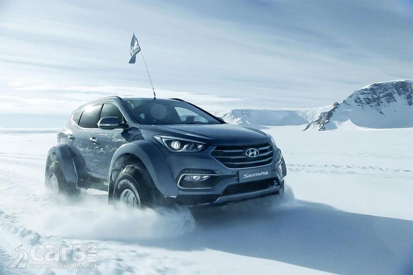 Photo Hyundai Santa Fe conquers the Antarctic
