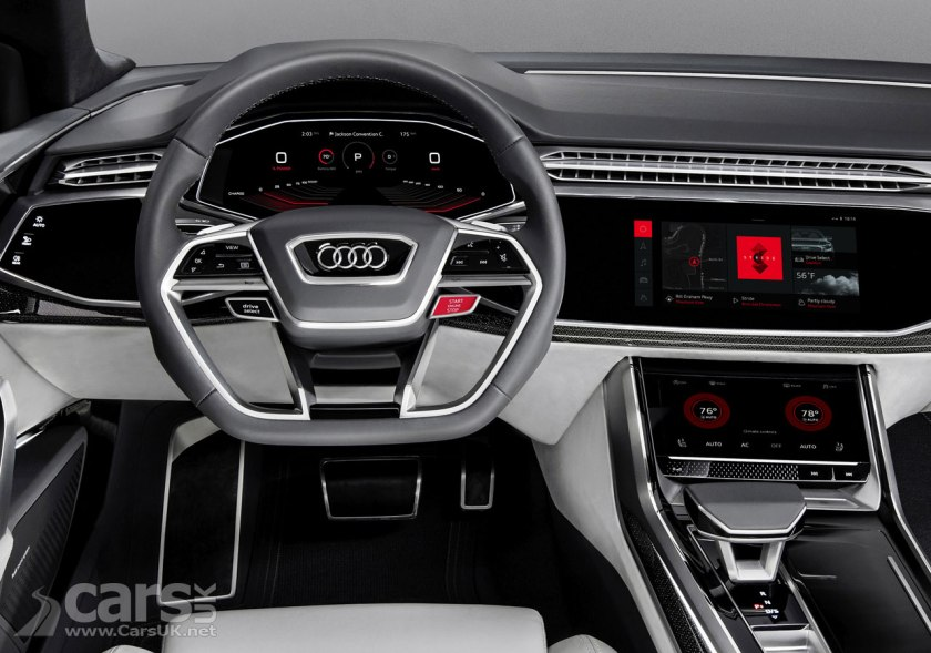 Photo Audi Q8 Sport shows off new Android O/S