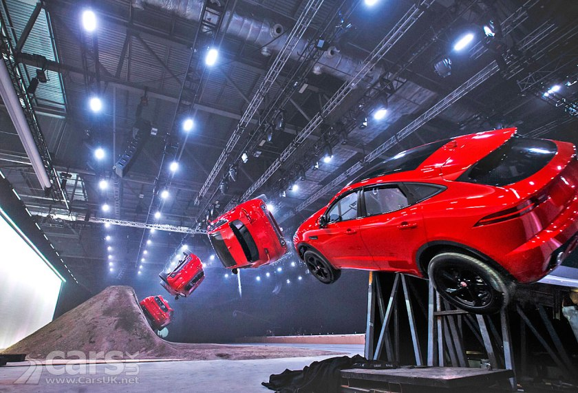 New Jaguar E-Pace Barrel Roll - HOW did they do it?