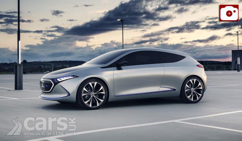Mercedes-Benz Concept EQA Previews Mercedes' production ELECTRIC hatchback