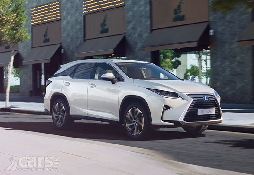 Lexus RX L 450h UK Prices and Specs - around a £2.4k premium for the