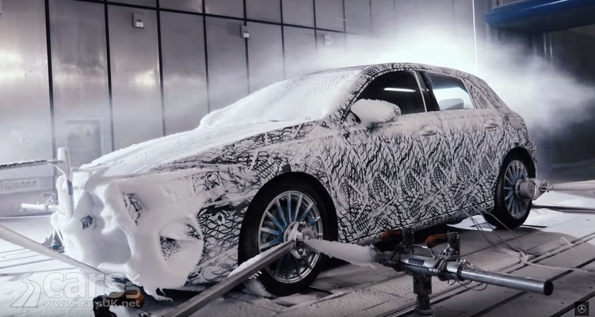 New 2018 Mercedes A-Class TEASE continues with winter testing video