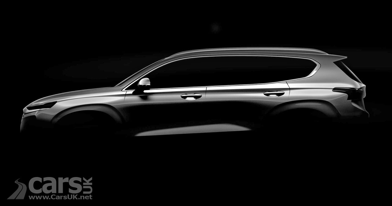 Hyundai Santa Fe teased ahead of its debut in Geneva