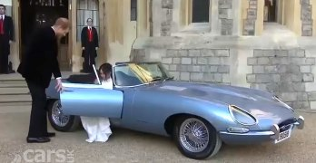 Jaguar Classic's ELECTRIC E-Type does Royal Wedding Duty