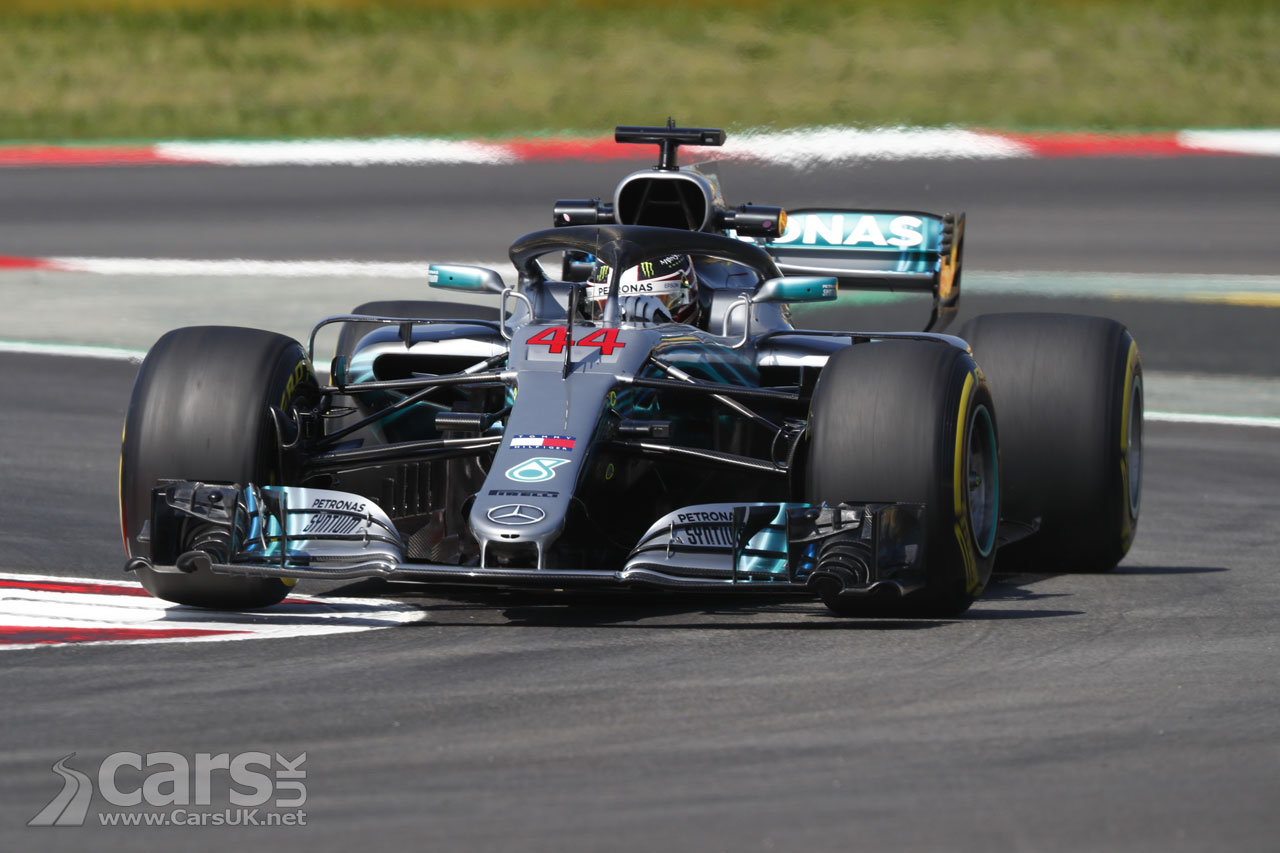Lewis Hamilton on pole at 2018 Spanish Grand Prix