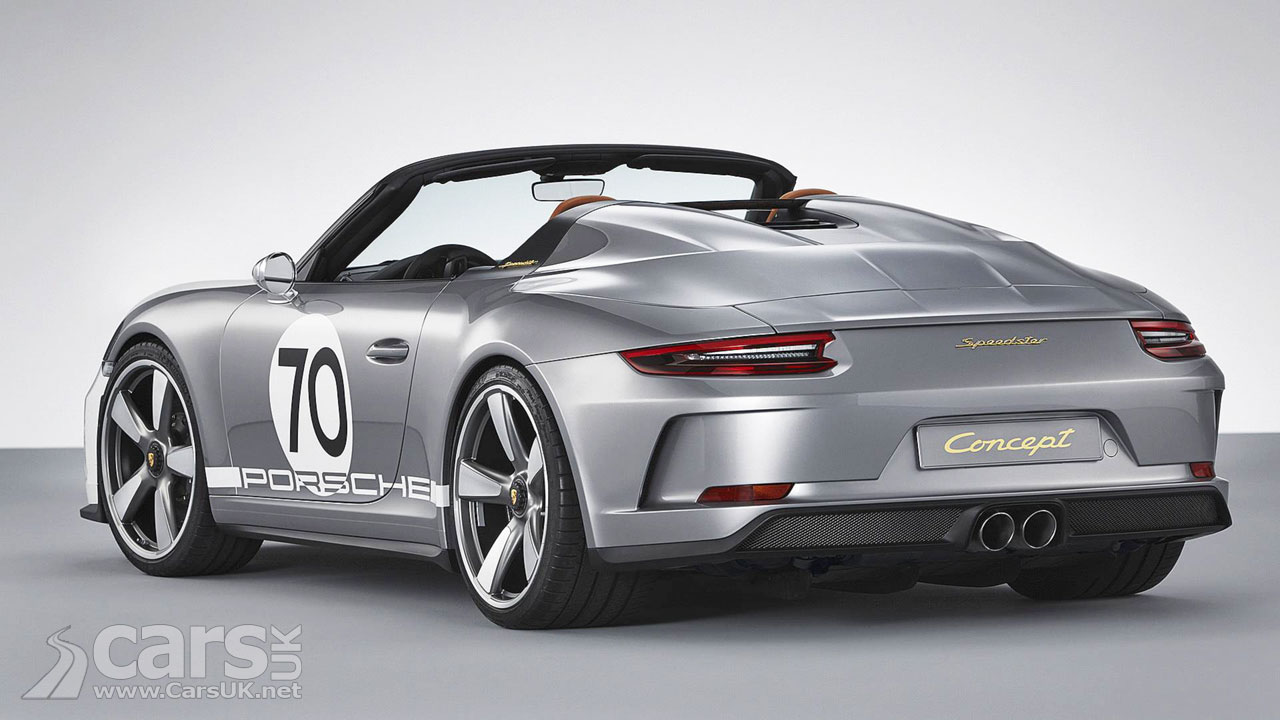 Porsche 911 Speedster Concept Double Bubble View