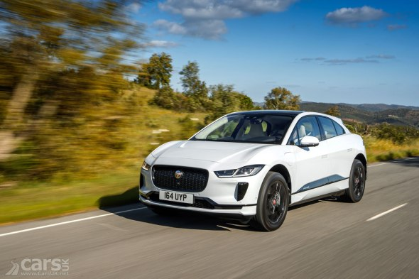 White Jaguar I-Pace as I-Pace production slowly grows