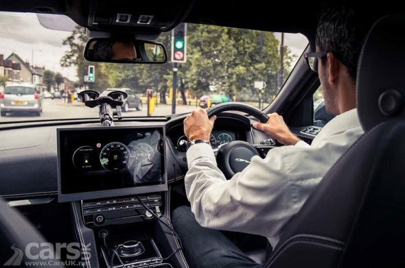 Jaguar Land Rover's GLOSA tech being tested in a Jaguar F-Pace