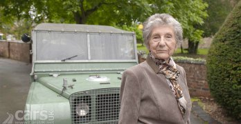 Dorothy Peters reunited with Land Rover '16'