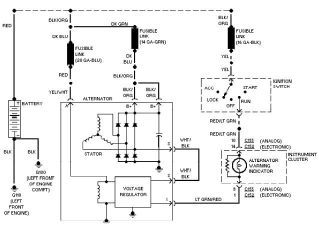 charging alternator wiring diagram the wiring 1997 chevy silverado alternator wiring diagram schematics and
