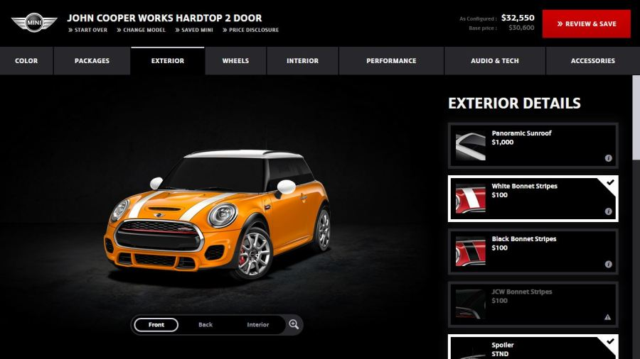 Design Your Own Custom Cars   Carsut   Understand cars and drive better customize your own MINI Cooper