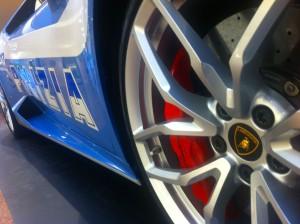 """la quinta """"Lamborghini Polizia"""", la Huracan LP 610-4, in dotazione al reparto della Stradale"""