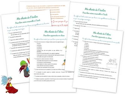 Charte de l'élève et de l'écolier