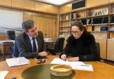 Reunión de trabajo de la alcaldesa con el secretario de estado de Infraestructuras
