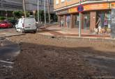 Rotura de tubería en la calle Ramón y Cajal con Jorge Juan