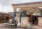 Visita al montaje del Campamento Festero de Carthagineses y Romanos
