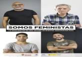 Cartel de la campaña Hombre Igualitario Somos Feministas