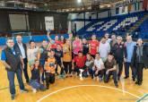 Visita de Noelia Arroyo al Pabellón Central de Deportes para ver el nuevo material adquirido