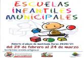 Abierto el plazo de matrícula de las Escuelas Infantiles Municipales