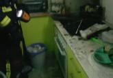 El fuego afecto a la campana extractora y armarios de cocina de la vivienda