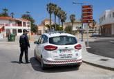 Control de la Policía Local en el acceso a Cabo de Palos