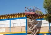 Inicio de las obras de retirada de fibrocemento del colegio Santa Florentina de La Palma