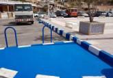 Obras de renovación estética de mobiliario urbano en el litoral