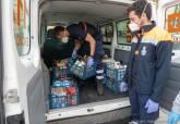 Voluntarios de Protección Civil colaborando durante la crisis del coronavirus