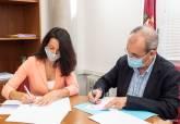 Firma convenio de la ADLE con Amusal
