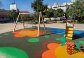 Plaza de la Roca, en Barrio Peral, con nueva zona de juegos infantiles