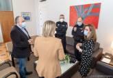 Reunión con el inspector Pedro Moreno, Comisario Jefe de la Policía Local temporalmente